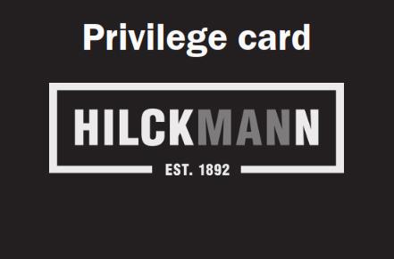 Hilckmann Privilege Card