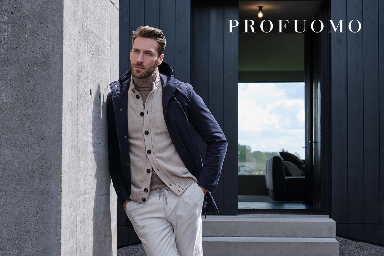 Slider 1 Profuomo verkrijgbaar bij mannenmode store Hilckmann Mode in Nijmegen