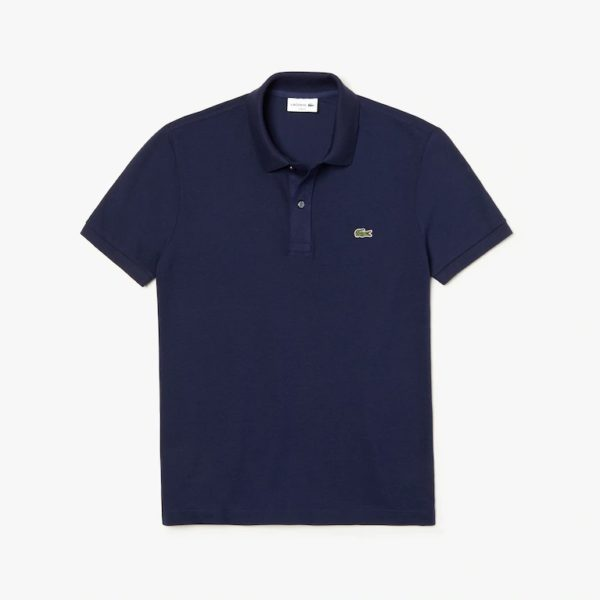 lacoste slim fit polo navy donkerblauw