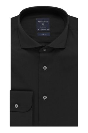 profuomo originale overhemd twill zwart