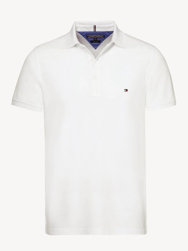 tommy hilfiger slim fit polo bright white 1