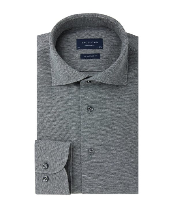 profuomo-knitted-overhemd-antraciet-melange