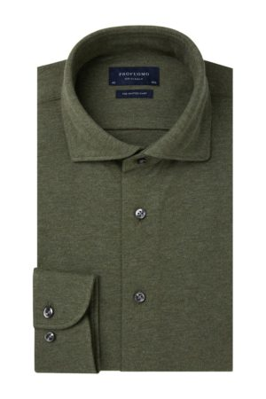 profuomo knitted overhemd army
