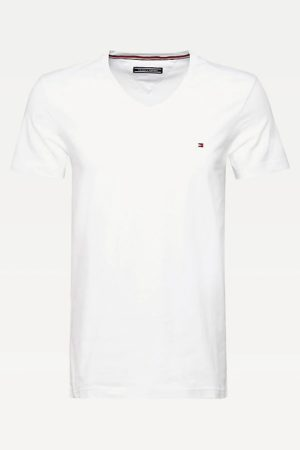 tommy hilfiger slim fit t-shirt wit vhals