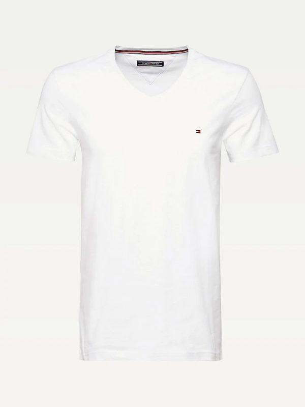 tommy hilfiger slim fit t-shirt wit vhals